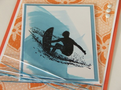 Extreme Surfboard – 7 year old boys birthday card «