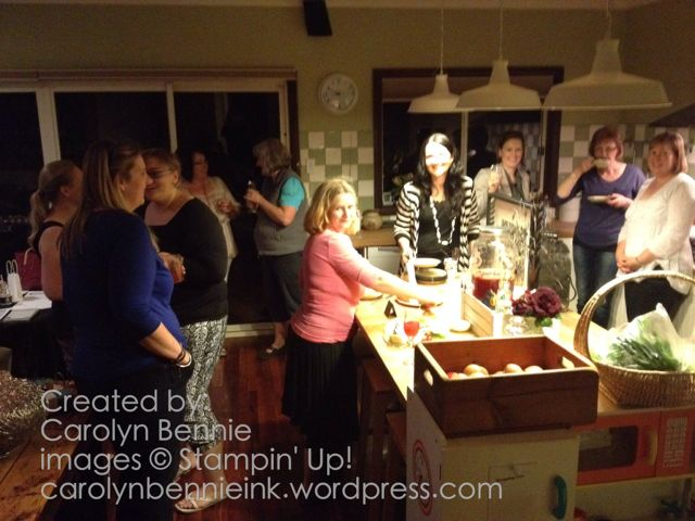 Midnight Inklings Stampin' Up! Team gathering -carolynbennieink.wordpress.com